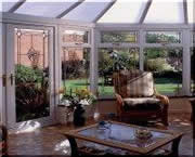 bevelled glass in conservatory