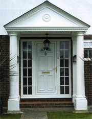 Trade Smart Windows Supply Of PVC U Windows Doors And & Appealing Front Door Canopies With Pillars Ideas - Best interior ...